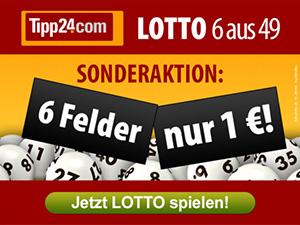 Tipp24 6 Felder für 1€